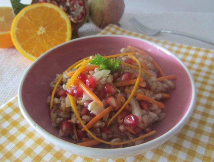 insalata farro melagrana
