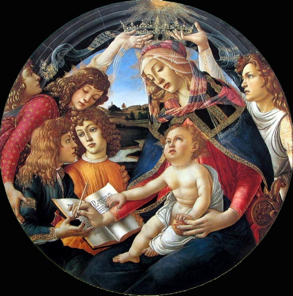 Botticelli melograno magnificat Madonna