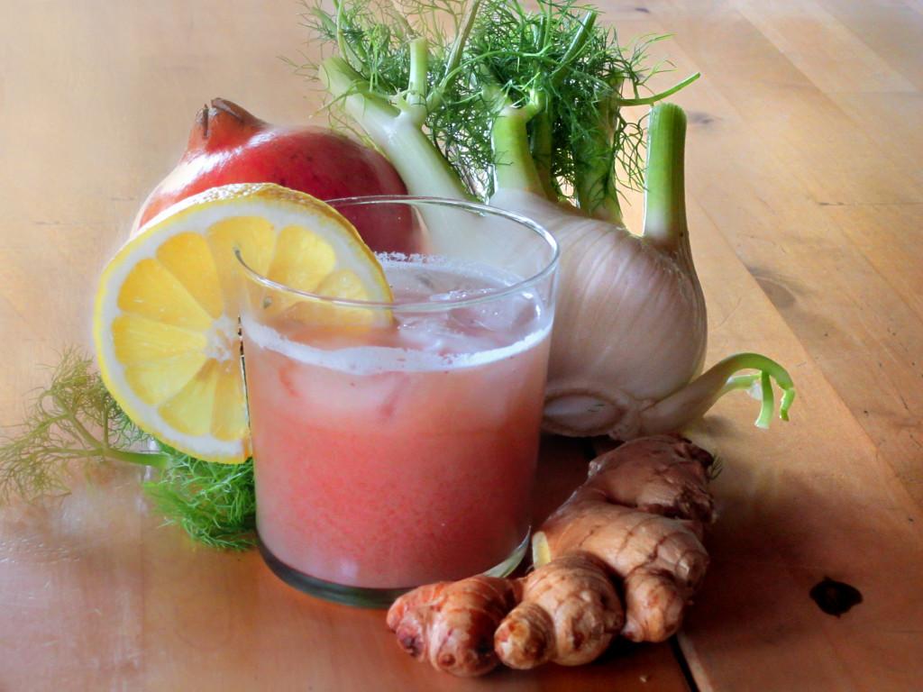 aperitivo melograno finocchio e ginger